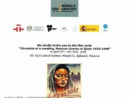 """ECO Cultural Institute Holds Film Week of """"Mexican Cinema in Spain 1933-1948"""""""