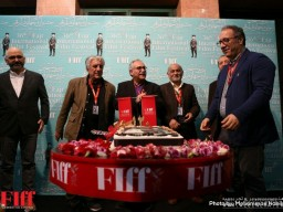 FIFF Organizers Cut the Cake to Celebrate 120 Years of Iranian Cinema