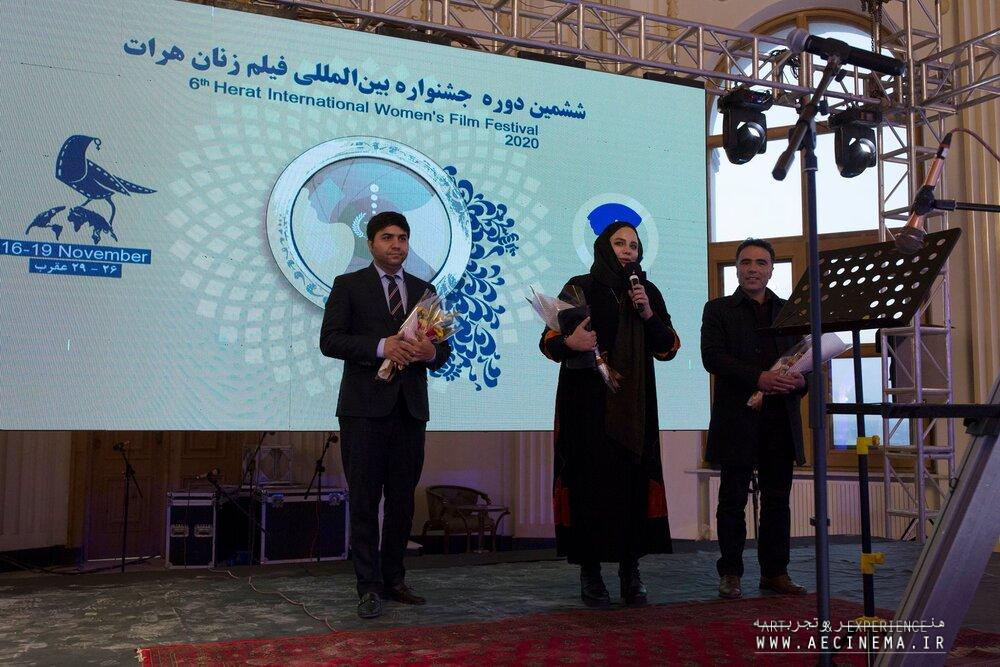 Iranian director Narges Abyar on panel of Herat women's film festival